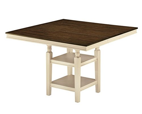 Ashley Furniture Signature Design - Whitesburg Dining Room Table - Counter Height - Vintage Casual with Built-in Shelving - Brown/Cottage (Cottage Counter Height Table)