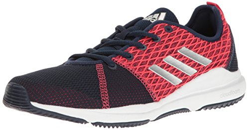 adidas Women's Shoes | Arianna Cloudfoam Cross-Trainer, Collegiate Navy/Metallic Silver/Pink, (7 M US) -