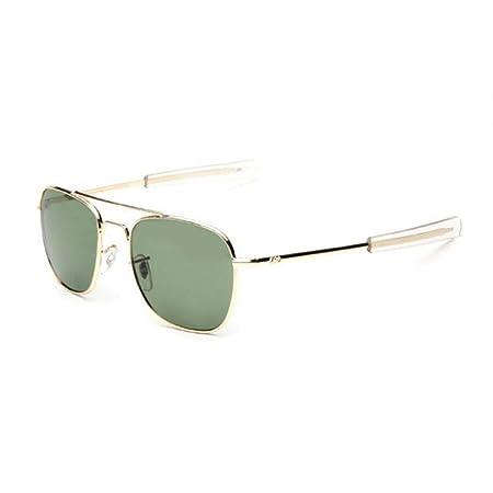 ZHOUYF Gafas de Sol 2018 Army Military Ao Pilot Sunglasses ...