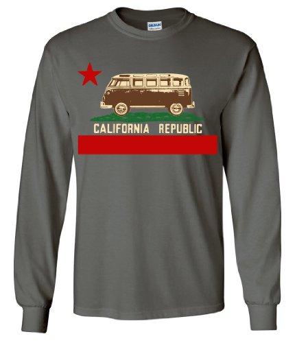 California Republic Vintage Van Long Sleeve Shirt - Charcoal - Store Map Gardens Jersey