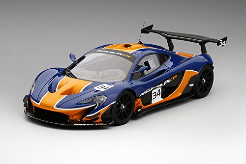 McLaren P1 GTR Blue/Orange Model Car in 1:18 Scale by Truescale Miniatures (1 18 Mclaren P1 Model Car)