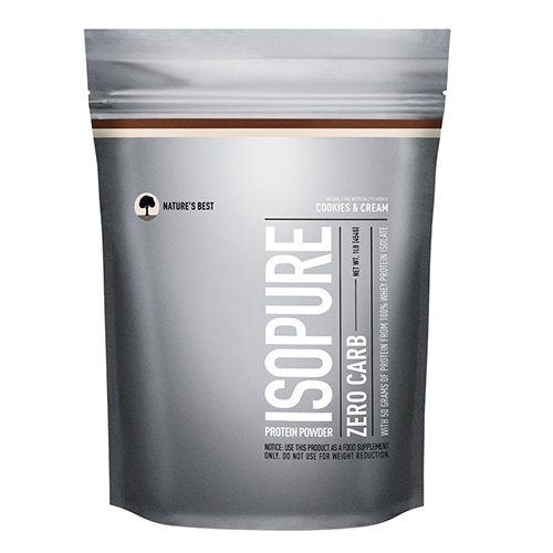 Nature's Best Zero Carb Isopure Powder, Cookies and Cream, 1 Pound (Pack of 12)