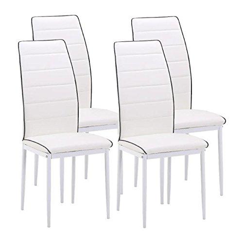 Trend Esszimmerstühle 4A Essen Kunstleder weiß