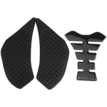 Motorcycle Gas Tank Side Fuel Grip Pad Protector and Fishbone Decal Sticker for Kawasaki Z900 17-18