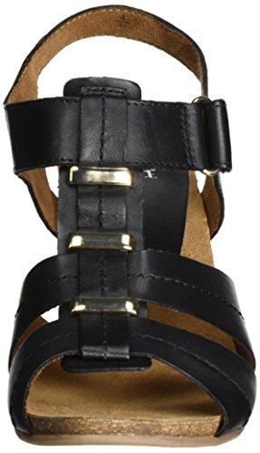 Caprice 28309, Sandalias con Cuña para Mujer Negro (Black Nappa)