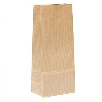 Bolsa papel Kraft (50 uds) sin asas, 22X10X6 cm