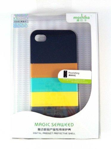 Mocs Ultra-thin Rainbow Matte Plastic Case for iPhone 4/4S (Black 2) (Ultra Moc)