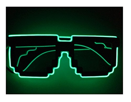 A LED El wire glasses Light up sunglasses Halloween Christmas Party Gift Fashion