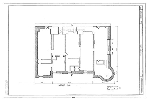Structural Drawing HABS MD,13-BELA,4- (Sheet 1 of 8) - Masonic Lodge, Wall Street, Bel Air, Harford County, MD 66in x ()