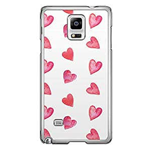 Loud Universe Samsung Galaxy Note 4 Love Valentine Printing Files A Valentine 46 Printed Transparent Edge Case - White/Red