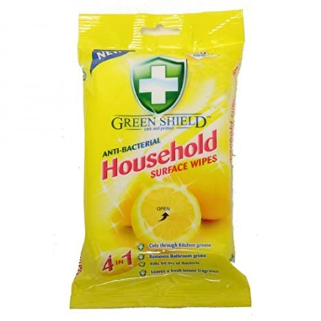 Green Shield 2 toallitas antibacterianas de Color Verde con 80 toallitas: Amazon.es: Hogar