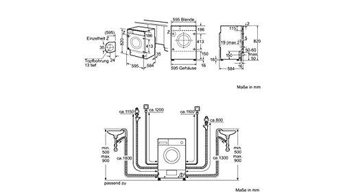 Siemens WDI1441 - Lavadora-secadora (Carga frontal, Integrado ...