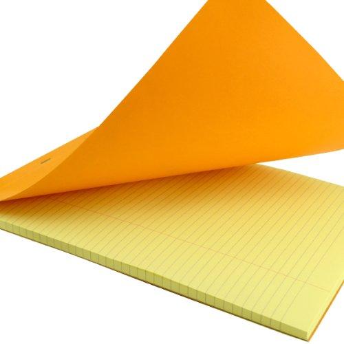 Rhodia Staplebound Book 8.25X12.5 Orange Lined 10Pk