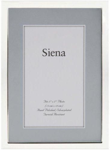 Siena TRIMLINE high-polished silverplate frame - 5x7 ()