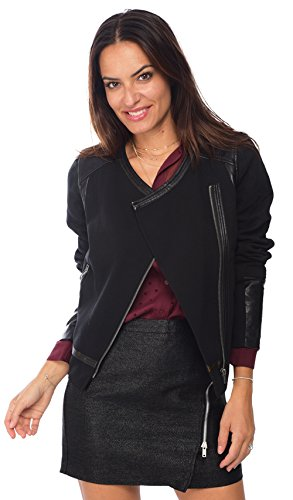 2TWO Et Femme Veste Simili Printemps Cuir Collection Courte qx4q70P