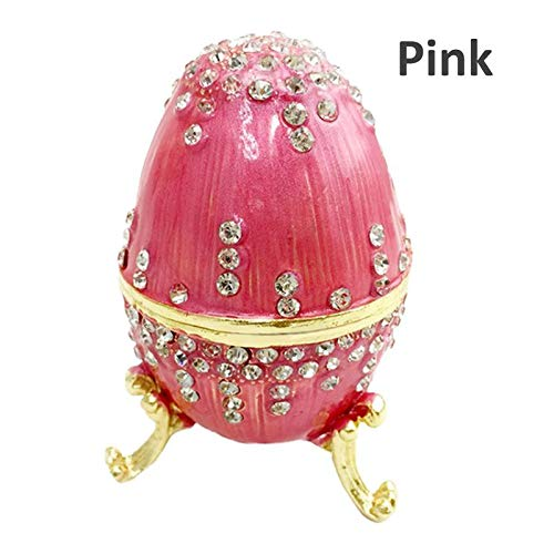 Party DIY Decorations - Handmade Enameled Easter Gifts Faberge Egg Trinket Box Jewelry Metal Craft Gift - Decorations Party Party Decorations Easter Vintage Trinket Jewelry Faberg Russian Bird