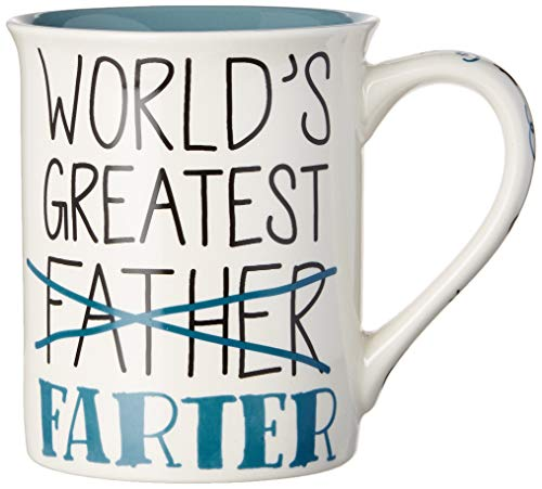 Enesco 6003383 Our Name is Mud World's Greatest Farter Father Coffee Mug, 16 oz.
