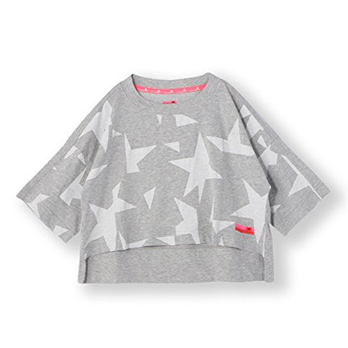 Adidas Women's Stellasport Star Graphic Tee, Grey Heather, M