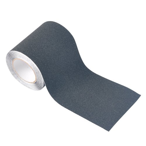 "Step Grip Safety Tape Hug Flight 6""x30 Black Roll Abrasive G"