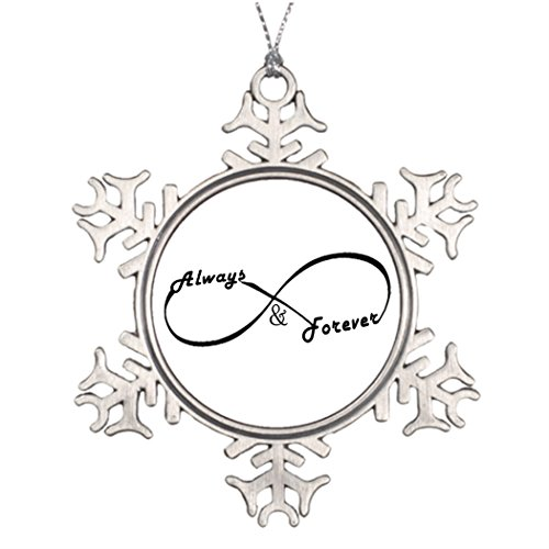 Tree Decorating Ideas Always and Forever Infinity sign Decorative Snowflake Ornaments Couple