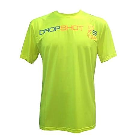 DROP SHOT Camiseta Padel Hombre -Amarillo Fluor-XL: Amazon.es: Deportes y aire libre