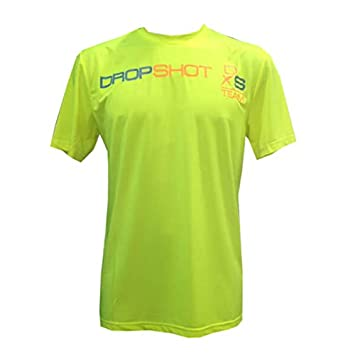 DROP SHOT Camiseta Padel Hombre -Amarillo Fluor-L: Amazon.es ...