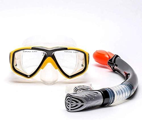 ダイビングゴーグル、大人の水泳スポーツ用品ゴーグルシュノーケル呼吸管機器防曇防水近視スーツ