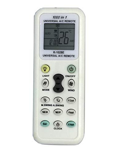 Esunfo Air Conditioner Remote AC Control LCD Universal Conditioning Controller 1000 in 1 for Mitsubishi Toshiba Hitachi Fujitsu Daewoo Lg Sharp Samsung Sanyo ()