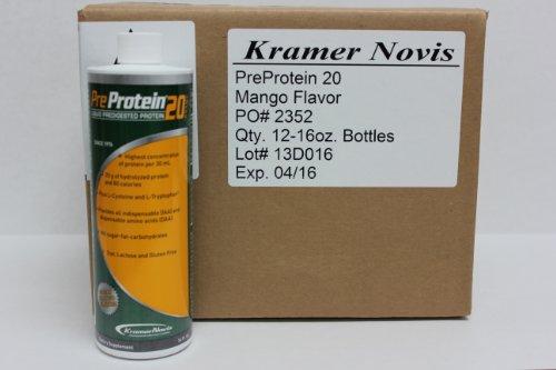 Pre-Protein 20 Mango 16 oz. Bottle - 12 ct. case by KRAMER NOVIS