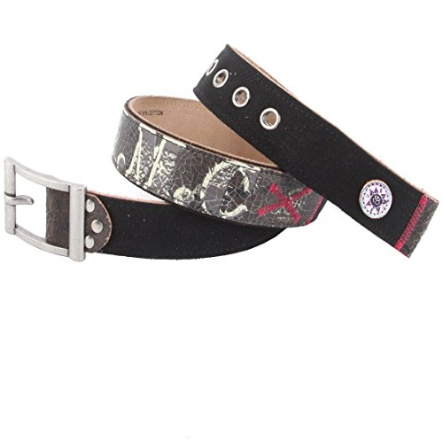 Ed Hardy EH3345 Womens Salute Canvas/Leather Belt (Ed Hardy Accessories)
