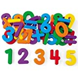 Generic Magnetic Large Numbers and Symbols Learning Toy for Kids, 3-6 Years (Multicolour)