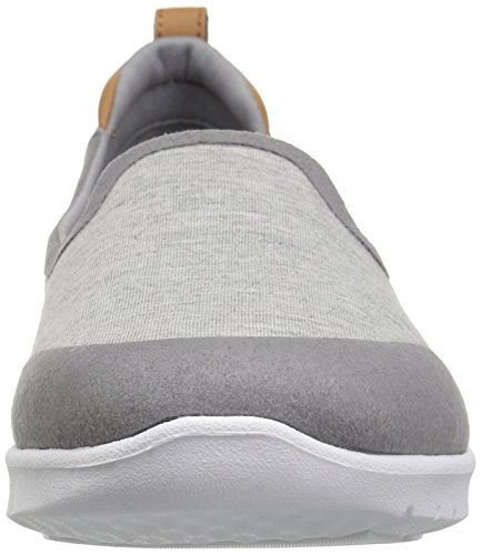 Fabric Clarks Allena Women's Flat M Loafer Lo Grey 5 7 Step Heathered Us wrwFq4W8