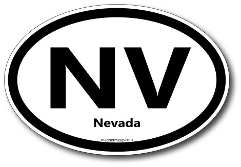 NV Nevada Car Magnet US State Oval Refrigerator Locker SUV Heavy Duty Waterproof…