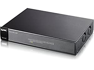 Zyxel 16-Port Unmanaged POE Ehernet Switch with 10/100 Mbps [ES1100-16P]