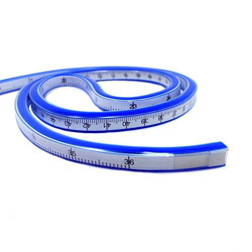 T&B 90cm Flexible Curve Ruler Helix Drafting Drawing Measure Tool Soft Plastic Tape Measure Ruler Blue/White (36 inch)  90cm clocks   Midnight Sun – 90cm against the clock 41C2vvCvNPL