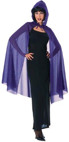 (Hooded Glitter Cape Costume Accessory)