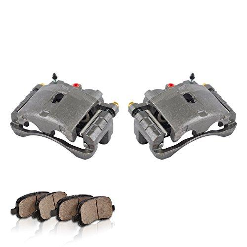 COEK00171 [2] FRONT Premium Loaded OE Caliper Assembly Set + Quiet Low Dust Ceramic Brake (Denali Brake Pad)