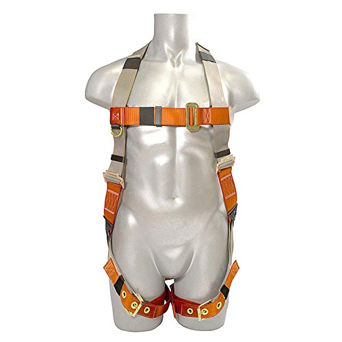 Madaco Roof Construction Fall Protection Heavy Duty Full Body Industrial Safety Harness Size M-XXL ANSI OSHA H-TB205C by Madaco Safety Products