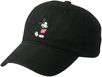 0dbe357d1d6 Amazon.com  Disney Men s Mickey Washed Twill Baseball Cap ...