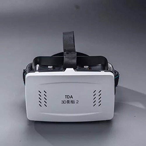 3D VR Headset, TDA Trading(TM) Virtual Reality 3D Video Glasses Head Mount with Comfortable Headband [Fit All Smartphone from 3.5 to 6 inches] for 3D Movies and Games [USA Seller] (White) ()