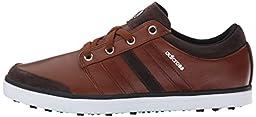 adidas Men\'s Adicross Gripmore Golf Shoe Tan Brown/Chocolate/Power Green Sneaker 11.5 D - Medium