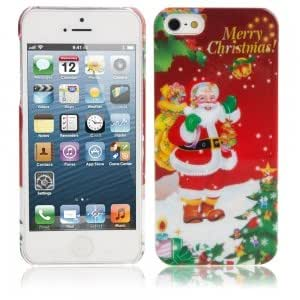 Christmas Series Plastic Protective Case for iPhone 5/5S Santa Claus