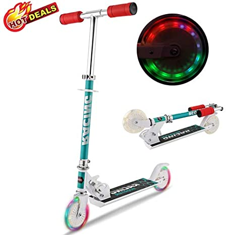 Patinete para niños, Scooters Plegables con luz LED de 2 ...