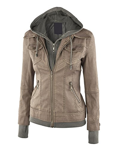 leather hooded jacket - 9