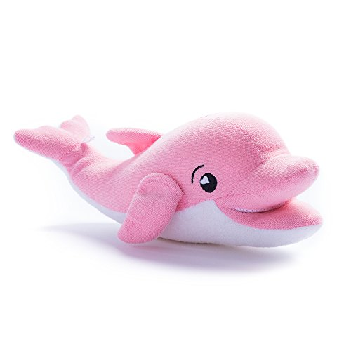 SoapSox Kids Animal Antimicrobial Terry Cloth Bath Sponge Ava The Dolphin