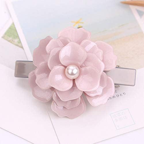 Great Gift Set for Girls 1Pc DIY Camellia Magic Hair Women Girl Hairpin Flower Hair Clip Dinner Party Hair Styling Tools Accessories(Pink)