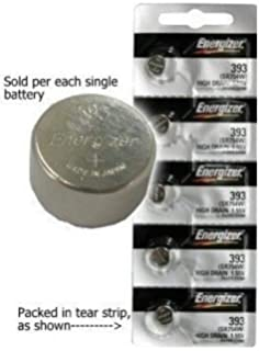 2 POWERTRON Silver Oxide Batteries 393 309 SR754 LR754 SR48 LR48 AG5 193 V393 D393 RW28 S15 55 MAH 1.55 Volts