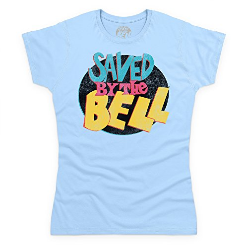 Official Saved By The Bell Camiseta, Para mujer Azul celeste