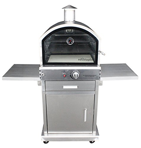 HomComfort HCP16SS Stainless Steel Gas Pizza - Outdoor Gas Oven
