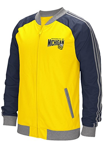Michigan Mens Track Jacket - adidas Michigan Wolverines NCAA Originals Full Zip Track Jacket